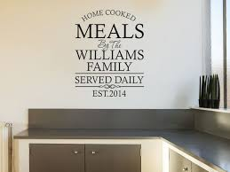personalised family kitchen wall art quote wall sticker decal modern transfer on personalised wall art stickers quotes with personalised family kitchen wall art quote wall sticker decal modern