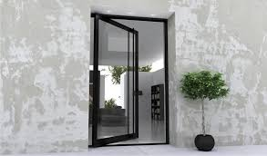 glass pivot door the image kid has it for large glass exterior doors