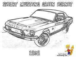 ford mustang coloring pages free library