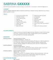 Warehouse Resume Magnificent General Warehouse Worker Resume Sample Worker Resumes LiveCareer