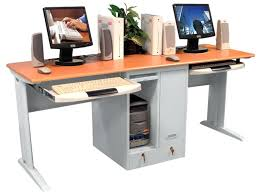 two computer desk two person student lab computer desk workstation small computer