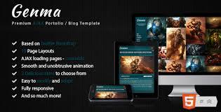 ajax website template. Genma Powerful animated AJAX template by corethemes ThemeForest