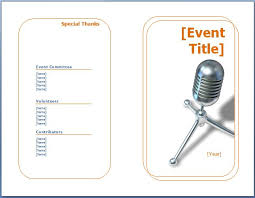 Template For A Program For An Event Generic Event Program Template Formal Word Templates