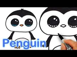 How to Draw a <b>Cute Cartoon Penguin</b> Easy step by step - YouTube