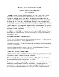 Pta Meeting Minutes January 8 2013