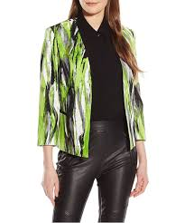 smirred printed 3 4 sleeve jacket kasper women coats jackets oi9tku