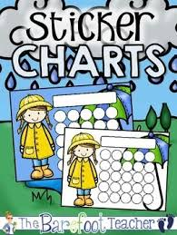 Rainy Day Chart Rainy Day Buddies Sticker Incentive Charts Full Color And