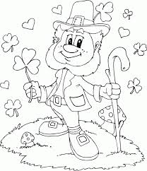Small Picture leprechaun shamrocks hearts coloring page coloringcom