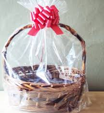 details these bottom gusseted cellophane basket bags