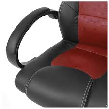 red leather office chair. High-Back Executive Racing PU Leather Office Chair - Red 2 G