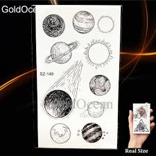 Little Sun Moon Children Temporary Tattoo Kids Stickers Waterproof Arm Hands Tattoos Diy Christmas Gift Planet Star Tatoos Paste