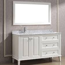 white bathroom vanities. Contemporary Bathroom Art Bathe Lily 55 White Bathroom Vanity  On Vanities