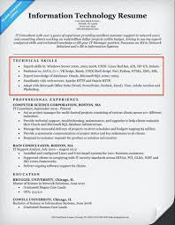 Example Of Technical Skills It Resume 795 Contemporary Captures