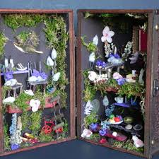 indoor fairy garden. Box Fairy House. Charming Gift,fairy Garden, Dollhouse, Furniture, Indoor Garden