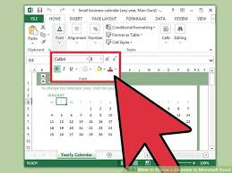 Calendar From Excel Data How To Create A Calendar In Microsoft Excel With Pictures