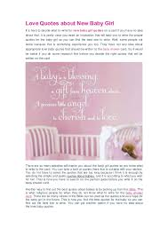 Love Quotes About New Baby Girl