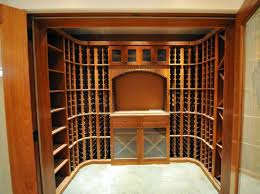 vigilant kit or custom wine racking components can give you numerous options for storing wine based arched table top wine cellar furniture