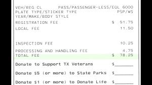 vehicle registration renewal fees