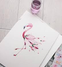 эскиз для моего друга фламинго и цветение магнолии материал