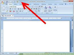 microsoft word menus how to customize the quick access toolbar in microsoft word windows 7