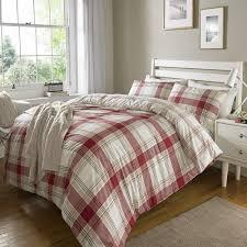 red check tartan duvet set quilt cover pillowcase reversible bedding super king size 458172 p5619 15366 image jpg