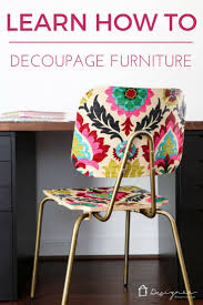did you know you can decoupage furniture to get an upholstered look on a