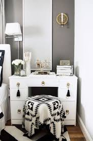 An Interior Stylist's Glam Midwest Remodel. Bedroom VanitiesWhite ...