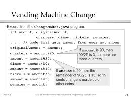 Java Vending Machine Unique Primitive Types Strings And Console IO Ppt Download