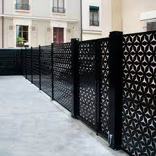 fence with panels france resille