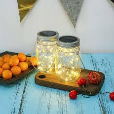 Diy Solar Lights In Mason Jars 20 Led Ip65 Waterproof Solar Mason Jar Lid Diy Fairy String