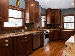 color schemes for kitchens with dark cabinets wood floors light brown kitchen wall painted country ideas