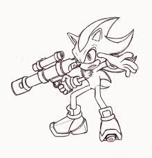 Coloring Pages Shadow From Sonic The Hedgehogng Pages Stunning