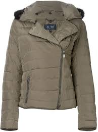 Armani jeans Faux-Fur-Collar Quilted Jacket in Brown   Lyst & Gallery Adamdwight.com