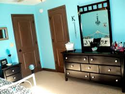 Aqua Blue Walls Black White And Tiffany Blue Bedroom We Painted Her Brown