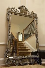 xl 84 ornate wall floor mirror antique silver leaf w brass black in mirrors plan 3