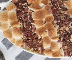 sweet potato casserole recipe with marshmallows and pecans. Contemporary Potato Sweet Potato Casserole With Marshmallow And Pecan Topping Inside Recipe With Marshmallows And Pecans A