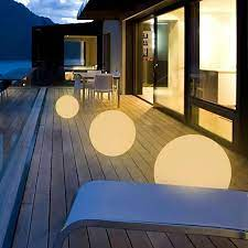ball plug in led outdoor floating light