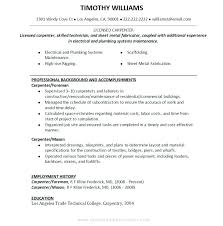 Carpenter Resume Template Awesome Carpenter Resume Examples Carpenter Resume Sample For Study Job