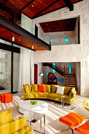 Orange Living Room Sets Airy And Cozy Living Room Decor Ideas Offer High Ceiling Treatment