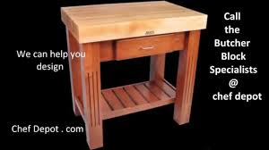 Kitchen Work Table Wood Kitchen Work Table Butcher Block Youtube