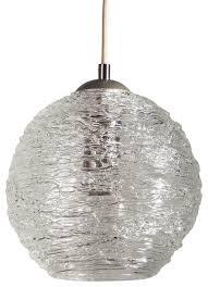 contemporary spun glass globe kitchen