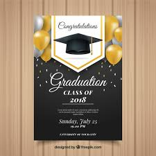 Graduation Announcements Template Classic Graduation Invitation Template With Realistic Design