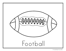 Small Picture Football Coloring Pages Simple Fun for Kids