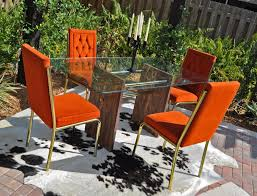 Burnt Orange 60s 70s Retro Dining Table And Chairs
