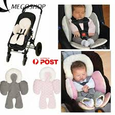 details about newborn baby car seat stroller cushion pad liner mat head support pillow au