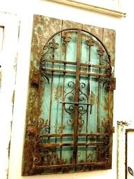 window gate wall art arched wall art window frame wood and iron decor metal gate wrought