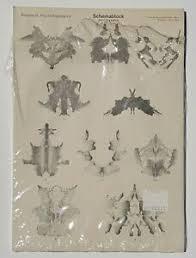Details About New Vintage Hermann Rorschach Inkblot Test Psychodiagnostics Blanks Switzerland