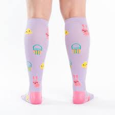 Hoppy Easter | Knee High Socks | Easter Socks for Women - Sock It to Me