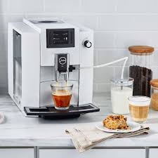 The coffee grounds container is full, the drip tray is missing or has not been inserted correctly. Jura E6 Automatic Coffee Machine Piano White Sur La Table