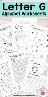 These free letter g worksheets will have kids recognizing the letter g in pictures, matching uppercase and lowercase g's, tracing the letter and more. Letter G Worksheets Alphabet Series Easy Peasy Learners